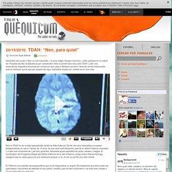 """TDAH: """"Nen, para quiet"""" - Quèquicom - Blogs - Televisió de Catalunya"""