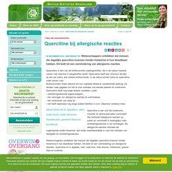 Quercitine bij allergische reacties