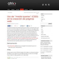 """Uso de """"media queries"""" (CSS3) en la creación de páginas web"""