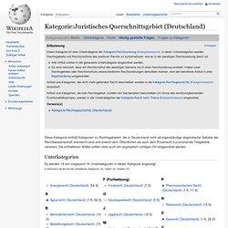 Juristisches Querschnittsgebiet (Deutschland)