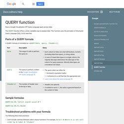 QUERY - Docs editors Help
