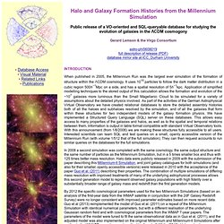 Public Release of a Queryable Database of Galaxies in the Milennium Simulation