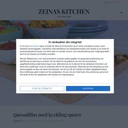 Quesadillas med kyckling/quorn