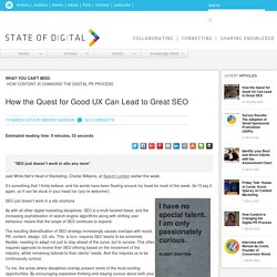 Quest for Good UX & Great SEO