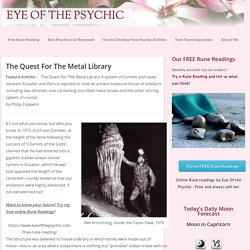 The Quest For The Metal Library - Eye Of The Psychic