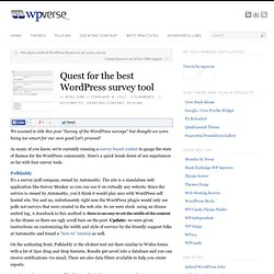 Quest for the best WordPress survey tool