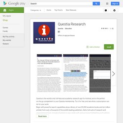 Questia Research - Android Apps on Google Play