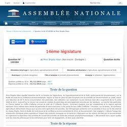 JO ASSEMBLEE NATIONALE 13/12/16 Au sommaire: QE 100384 produits dangereux - produits phytosanitaires - utilisation. réglementation