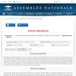 JO ASSEMBLEE NATIONALE 27/12/16 Au sommaire: QE 101483 produits dangereux - pesticides - utilisation. réglementation