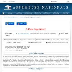 JO ASSEMBLEE NATIONALE 08/04/14 Au sommaire: QE 21371 produits dangereux - pesticides - utilisation. conséquences. apiculture (réponse du MEDDE)