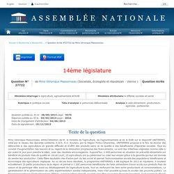 JO ASSEMBLEE NATIONALE 04/03/14 Au sommaire: QE 27722 politique sociale - personnes défavorisées - aide alimentaire. producteurs agricoles. partenariat