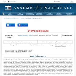JO ASSEMBLEE NATIONALE 25/02/14 Réponse à question N°42669 EAU - laboratoires publics territoriaux. organisation. missions