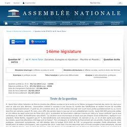 JO ASSEMBLEE NATIONALE 07/10/14 Au sommaire: QE 44721 politique sociale - personnes défavorisées - aide alimentaire. financement