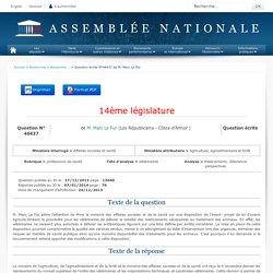 JO ASSEMBLEE NATIONALE 07/01/14 Au sommaire: QE 46437 professions de santé - vétérinaires - médicaments. délivrance. perspectives
