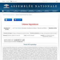 JO ASSEMBLEE NATIONALE 23/09/14 Réponse à question: QE 51528 déchets, pollution et nuisances - déchets ménagers - sacs plastiques recyclés. développement. taxation