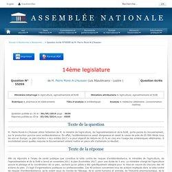 JO ASSEMBLEE NATIONALE 03/06/14 Au sommaire: QE 55099 pharmacie et médicaments - antibiotiques - médecine vétérinaire. consommation. maîtrise