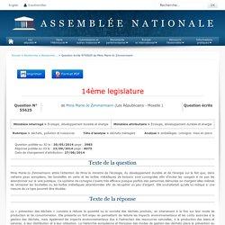 JO ASSEMBLEE NATIONALE 23/09/14 Réponse à question: QE 55625 déchets, pollution et nuisances - déchets ménagers - emballages. consigne. mise en place