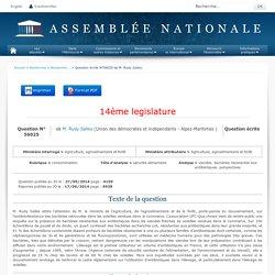JO ASSEMBLEE NATIONALE 17/06/14 Au sommaire: QE 56025 consommation - sécurité alimentaire - viandes. bactéries résistantes aux antibiotiques. perspectives