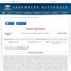 JO ASSEMBLEE NATIONALE 20/01/15 Au sommaire: QE 60169 agriculture - traitements - pesticides. épandage aérien. vignes. réglementation (réponse MEDDE)