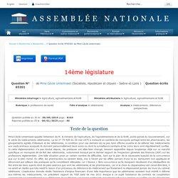 JO ASSEMBLEE NATIONALE 06/01/15 Réponses à questions: QE 65301 professions de santé - vétérinaires - médicaments. délivrance. perspectives