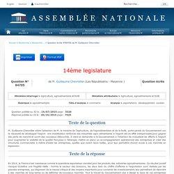 JO ASSEMBLEE NATIONALE 20/10/15 Réponse à question N°84705 exportations. développement. soutien
