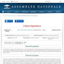 JO ASSEMBLEE NATIONALE 12/01/16 Au sommaire: QE 89179 agriculture - maladies et parasites - cynips du châtaignier. lutte et prévention