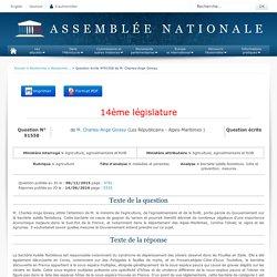JO ASSEMBLEE NATIONALE 14/06/16 Au sommaire: QE 91558 agriculture - maladies et parasites - bactérie xylella fastidiosa. lutte et prévention. mesures