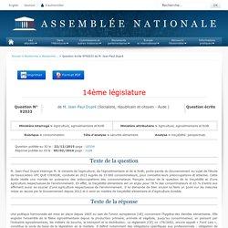 JO ASSEMBLEE NATIONALE 09/02/16 Au sommaire: QE 92033 consommation - sécurité alimentaire - traçabilité. perspectives