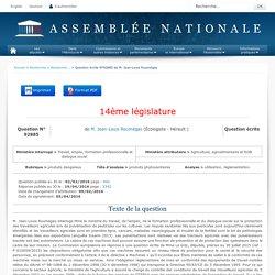JO ASSEMBLEE NATIONALE 19/04/16 Au sommaire: QE 92885 produits dangereux - produits phytosanitaires - utilisation. réglementation