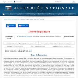 JO ASSEMBLEE NATIONALE 21/06/16 Au sommaire: QE 93660 produits dangereux - pesticides - utilisation. conséquences