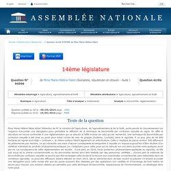 JO ASSEMBLEE NATIONALE 10/05/16 Au sommaire: QE 94596 agriculture - traitements - biocontrôle. réglementation