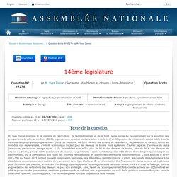 JO ASSEMBLEE NATIONALE 24/05/16 Au sommaire: QE 95278 élevage - fonctionnement - groupements de défense sanitaire. financement