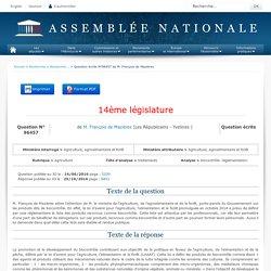 JO ASSEMBLEE NATIONALE 25/10/16 Au sommaire: QE 96457 agriculture - traitements - biocontrôle. réglementation