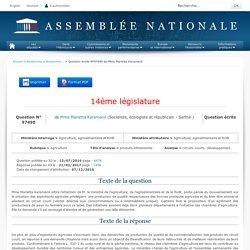 JO ASSEMBLEE NATIONALE 21/02/17 Au sommaire: QE 97490 agriculture - produits alimentaires - circuits courts. Développement.