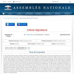 JO ASSEMBLEE NATIONALE 09/08/16 Réponse à question QE 97945 santé - maladie de Lyme - lutte et prévention