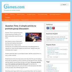 Question Time: A simple activity to promote group discussion
