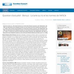 Question d'actualité - Borsus - La tarte au riz et les normes de l'AFSCA - Caroline Cassart