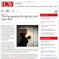The big question for agencies and open data