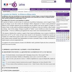 La question de l'Altérité , du XVIème au XXème siècle — Site Lettres de l'académie de Lille