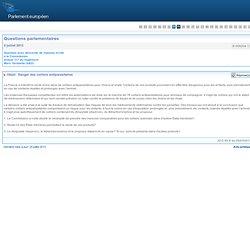 PARLEMENT EUROPEEN - Réponse à question E-008204-13 Danger des colliers antiparasitaires