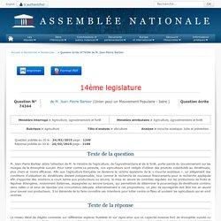 JO ASSEMBLEE NATIONALE 23/03/15 Au sommaire: QE 74344 agriculture - viticulture - mouche asiatique. lutte et prévention