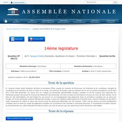 Question n°80272 - Assemblée nationale