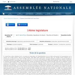 JO ASSEMBLEE NATIONALE 16/06/15 Au sommaire: QE 78474 produits dangereux - pesticides - utilisation. conséquences. apiculture