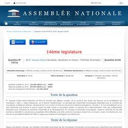 JO ASSEMBLEE NATIONALE 07/07/15 Au sommaire: QE 76731 santé - épidémies - maladies vectorielles. lutte et prévention