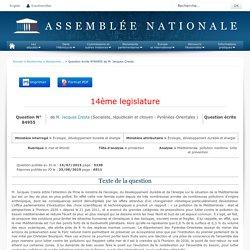 JO ASSEMBLEE NATIONALE 25/08/15 Au sommaire: QE 84955 mer et littoral - protection - Méditerranée. pollution maritime. lutte et prévention