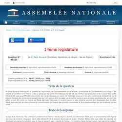JO ASSEMBLEE NATIONALE 01/09/15 Réponse à question N°85321 étiquetage informatif - origine des produits