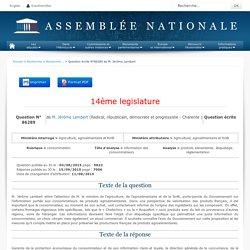 JO ASSEMBLEE NATIONALE 15/09/15 Au sommaire: QE 86289 consommation - information des consommateurs - produits alimentaires. étiquetage. réglementation
