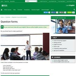 Grammar - Beginner to pre-intermediate
