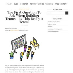 The First Question To Ask When Building Teams - Is This Really A Team? - The Agile Coach's Guide To The Galaxy
