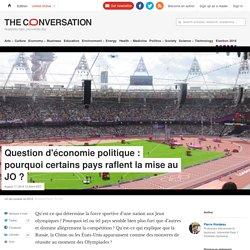 Question d'économie politique : pourquoi certains pays raflent la mise au JO ?